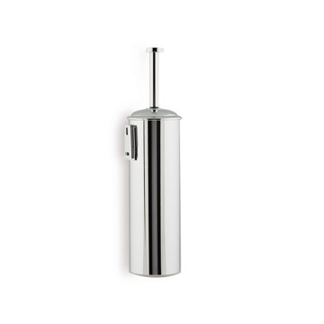 Chrome Wall Mounted Rounded Brass Toilet Brush Holder