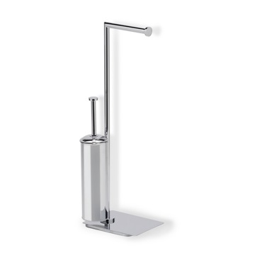 Chrome Free Standing 2-Function Bathroom Butler
