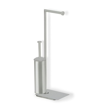 Satin Nickel Free Standing 2-Function Bathroom Butler