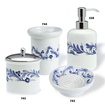 Bathroom Accessory Sets on Classic Style Round Ceramic Bathroom Accessory Set N100 Stilhaus N100