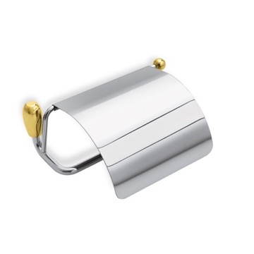 Toilet Paper Holder, Contemporary, Chrome and Gold, Brass, StilHaus Omega, StilHaus O11C-02