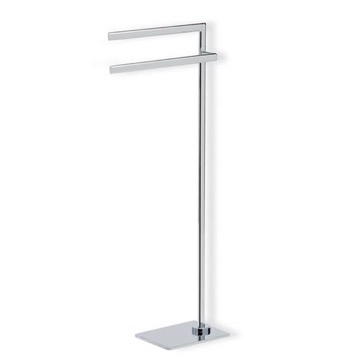 Chrome Free Standing Towel Stand