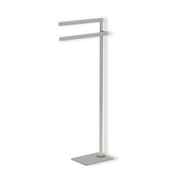 Satin Nickel Free Standing Towel Stand