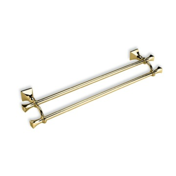Classic 24 Inch Gold Brass Double Towel Bar