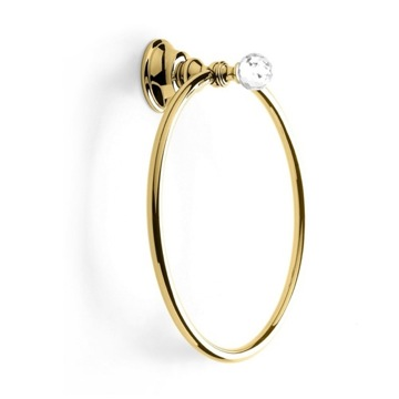 Gold Towel Ring with Crystal SL07-16