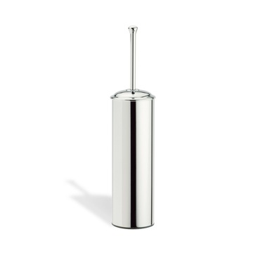 Chrome Round Brass Toilet Brush Holder