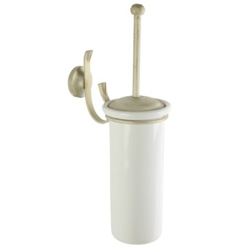 Wall Mounted Classic-Style Round Ceramic Toilet Brush Holder