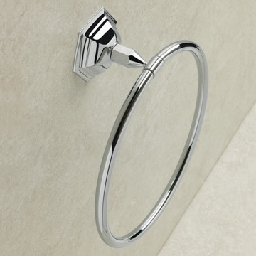 Simple Wall Mounted Circular Towel Ring in Multiple Finishes