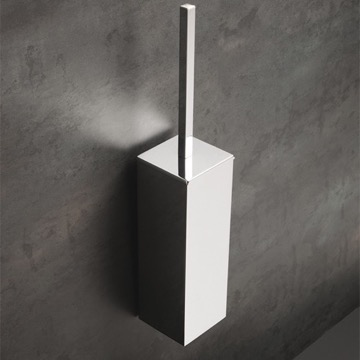 Chrome Wall Mounted Brass Toilet Brush Holder
