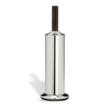 Toilet Brush Chrome Toilet Brush Holder with Wood Handle TL039 StilHaus TL039