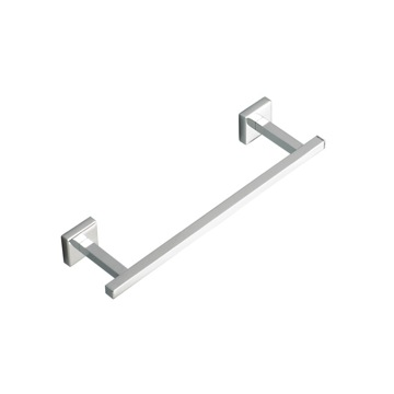 Towel Bar 12 Inch Square Towel Bar in Chrome or Satin Nickel U06 StilHaus U06