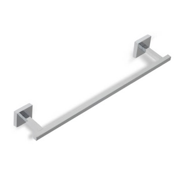 Towel Bar 18 Inch Square Chrome or Satin Nickel Towel Bar U45 StilHaus U45