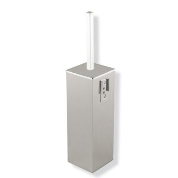 Satin Nickel Wall Mounted Square Brass Toilet Brush Holder