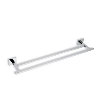 Chrome 22 Inch Double Brass Towel Bar
