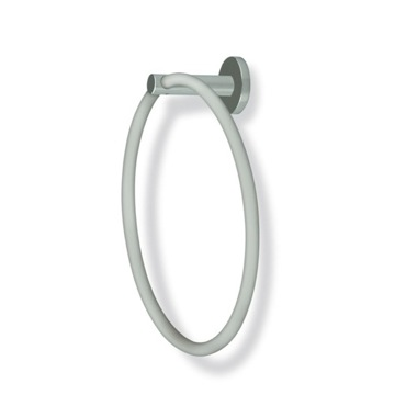 Round Satin Nickel Towel Ring