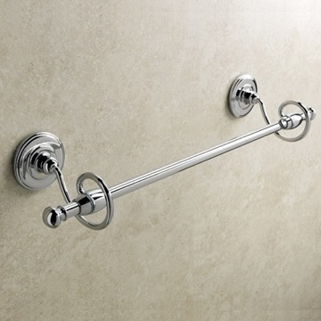 Classic-Style Brass 18 Inch Towel Bar