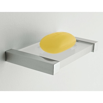 Soap Dish Wall Mounted Square Plexiglass Soap Dish 4501 Toscanaluce 4501