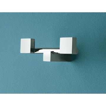 Polished Chrome Twin Robe Hook