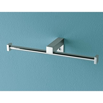 Toilet Paper Holder, Contemporary, Chrome, Brass, Toscanaluce Eden, Toscanaluce 4525