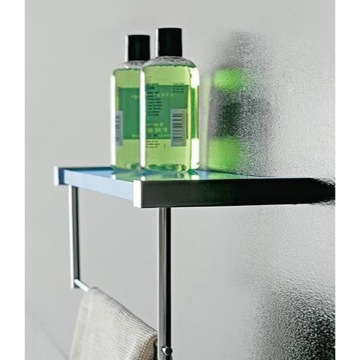 Bathroom Shelf Plexiglass Square 14 Inch Bathroom Shelf with Towel Bar 4538 Toscanaluce 4538