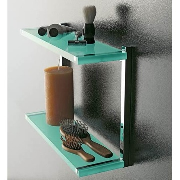 Bathroom Shelf Square Plexiglass Double Bathroom Shelf 4542 Toscanaluce 4542