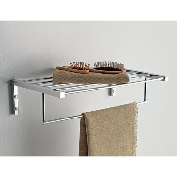 Bathroom Shelf 18 Inch Towel Rack with Towel Bar 4550 Toscanaluce 4550