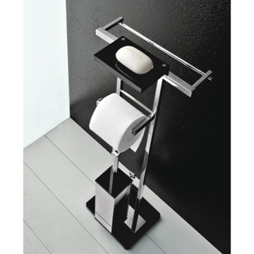 Bathroom Butler Free Standing 4-Funtcion Bathroom Butler with Plexiglass Base 4575 Toscanaluce 4575