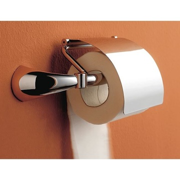 Toilet Paper Holder, Contemporary, Chrome, Brass, Toscanaluce Kor, Toscanaluce 5525 dx/sx