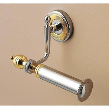 Toilet Paper Holder, Classic, Chrome,Chrome and Gold,Bronze, Brass, Toscanaluce Queen, Toscanaluce 6505