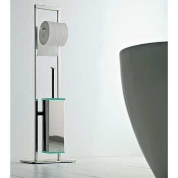 Bathroom Butler Free Standing 2-Function Bathroom Butler with Chrome Base 873 Toscanaluce 873