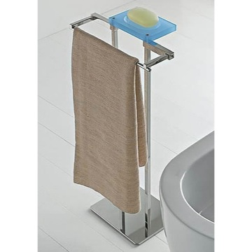 Bathroom Butler Free Standing 2-Function Bathroom Butler with Chrome Base 874 Toscanaluce 874