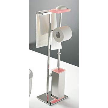 Bathroom Butler Free Standing 4-Funtcion Bathroom Butler with Chrome Base 875 Toscanaluce 875