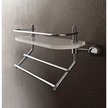 Plexiglass 16 Inch Bath Bathroom Shelf With Railing And Towel Bar