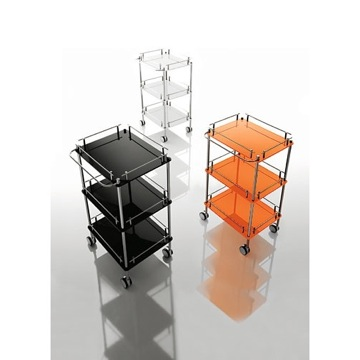 Trolley 3-Tier Square Plexiglass Trolley K115 Toscanaluce K115