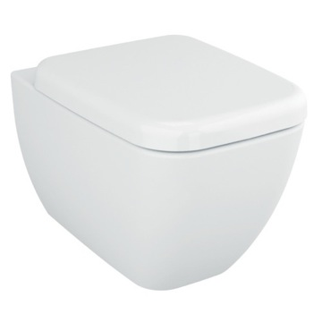 Stylish Square White Ceramic Wall Hung Bathroom Toilet with Seat