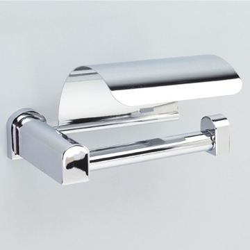 Toilet Paper Holder Chrome or Chrome and Gold Toilet Roll Holder with Cover 85151 Windisch 85151