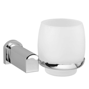 Wall Mounted Frosted Crystal Glass Bathroom Tumbler