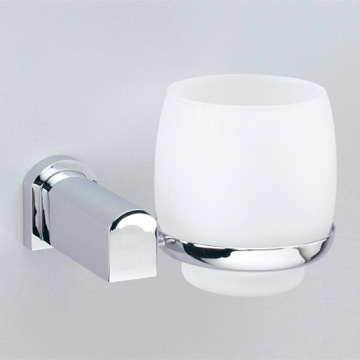 Toothbrush Holder Wall Mounted Frosted Crystal Glass Bathroom Tumbler 85156 Windisch 85156