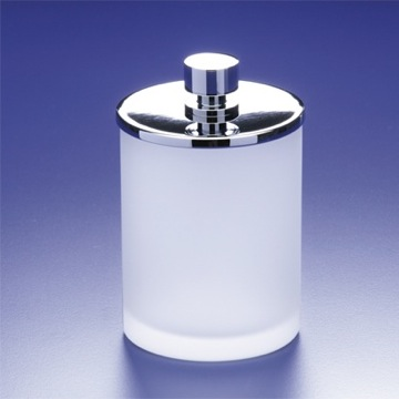 Bathroom Jar Round Frosted Glass Cotton Ball Jar 88125M Windisch 88125M