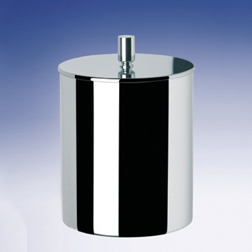 Gold Round Metal Bathroom Waste Bin