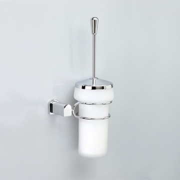 Toilet Brush Wall Mounted Frosted Crystal Glass Toilet Brush Holder 89130 Windisch 89130