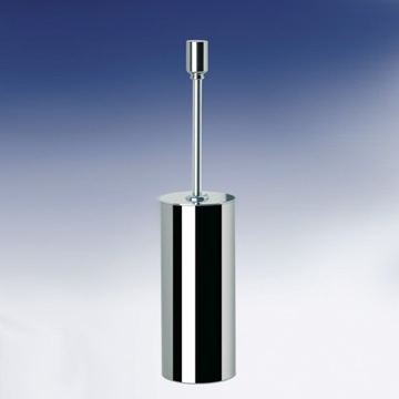 Contemporary Round Brass Toilet Brush Holder