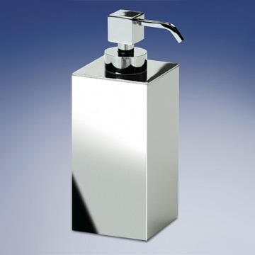Square Contemporary Brass Soap Dispenser