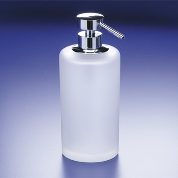 Frosted Crystal Glass Soap Dispenser