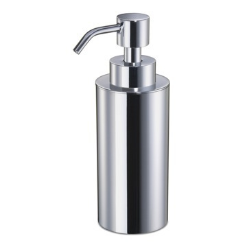 Round Chrome or Gold Finish Soap Dispenser