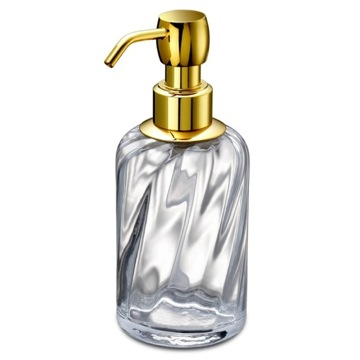Soap Dispenser Made from Twisted Glass