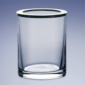 Clear Crystal Glass Toothbrush Holder
