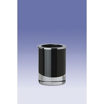 Free Standing Round Black or White Toothbrush Holder