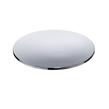 Round Chrome or Gold Soap Dish