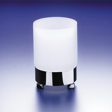 Round Frosted Crystal Glass Tumbler